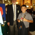 Daniel Collier Under 13 Handicap Winner