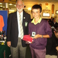 James Prendergast Under 14 Handicap Runner Up