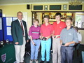 Team Runners Up Tieran Madgwick, George Carroll, James Fowler & Callum Ward.