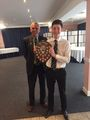 Adam Harris with the Paul Donnelly Shield